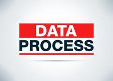 Illustrazione piana di progettazione del fondo dell'estratto di processo di dati illustrazione vettoriale