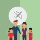 Illustrazione piana di progettazione della famiglia, icona della gente Fotografie Stock