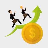 Illustrazione piana di progettazione di profitto, vettore editabile Fotografia Stock