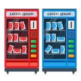 Illustrazione piana di vettore dei distributori automatici Immagini Stock