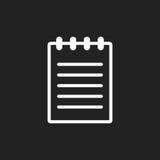 Illustrazione piana di vettore dell'icona del documento illustrazione di stock