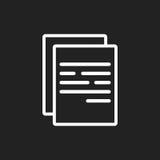 Illustrazione piana di vettore dell'icona del documento Fotografia Stock