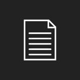 Illustrazione piana di vettore dell'icona del documento Fotografie Stock