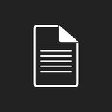 Illustrazione piana di vettore dell'icona del documento Immagine Stock