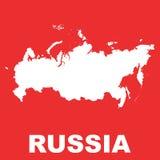 Illustrazione piana di vettore della mappa della Russia Immagini Stock Libere da Diritti