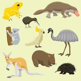 Illustrazione piana di vettore della raccolta del mammifero di stile dei caratteri popolari della natura del fumetto degli animal royalty illustrazione gratis
