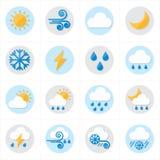 Illustrazione piana di vettore delle icone del tempo delle icone Immagine Stock