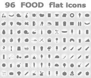 Illustrazione piana di vettore delle icone dell'alimento Fotografia Stock Libera da Diritti