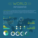 Illustrazione piana di vettore di progettazione di Infographic di parola illustrazione vettoriale