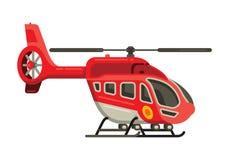 Illustrazione piana di vettore di stile dell'elicottero fotografie stock
