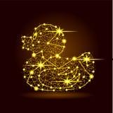Illustrazione poligonale delle stelle leggere dell'anatra illustrazione di stock