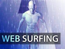 Illustrazione praticante il surfing di Web Immagini Stock Libere da Diritti