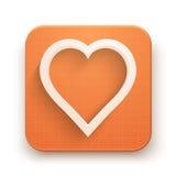 Illustrazione premio di vettore dell'icona del cuore Immagini Stock Libere da Diritti