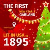 Illustrazione Prima ghirlanda di Natale illustrazione vettoriale