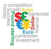 Illustrazione principale di valute Immagine Stock Libera da Diritti