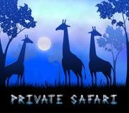 Illustrazione privata di Safari Showing Wildlife Reserve 3d illustrazione di stock