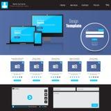 Illustrazione professionale di vettore del modello del sito Web, Immagini Stock