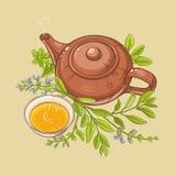 Illustrazione prudente del tè Immagine Stock Libera da Diritti