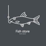 Illustrazione pulita e semplice di un salmone Fotografia Stock