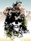 Illustrazione punk del cranio Fotografia Stock Libera da Diritti