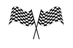 Illustrazione a quadretti EPS10 di vettore dell'icona di rivestimento di inizio della bandiera della corsa illustrazione di stock