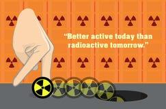 Illustrazione radioattiva antinucleare di Anti-Arma nucleare Fotografie Stock Libere da Diritti