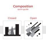 Illustrazione rapida della guida della composizione Illustrazione di Stock