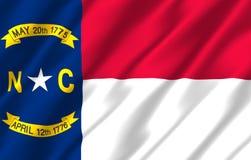 Illustrazione realistica della bandiera di North Carolina illustrazione vettoriale