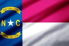 Illustrazione realistica della bandiera di North Carolina royalty illustrazione gratis
