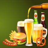 Illustrazione realistica della birra Fotografia Stock