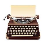 Illustrazione realistica della macchina da scrivere Fotografia Stock Libera da Diritti