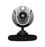 Illustrazione realistica della macchina fotografica di Web Fotografie Stock
