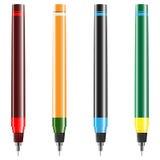 Illustrazione realistica di vettore della penna del rapidograph Fotografia Stock