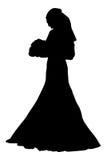 Illustrazione realistica di vettore della siluetta della sposa Fotografie Stock Libere da Diritti
