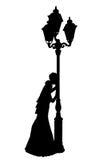 Illustrazione realistica di vettore della siluetta della sposa Immagini Stock