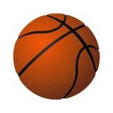 Illustrazione realistica gonfiata sferica di vettore della palla di cuoio di pallacanestro Immagini Stock Libere da Diritti