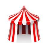 Illustrazione realistica isolata di vettore di progettazione del fumetto 3d della tenda di circo illustrazione vettoriale
