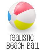 Illustrazione realistica variopinta di vettore del beach ball Immagine Stock Libera da Diritti