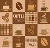 Illustrazione relativa del caffè Fotografie Stock Libere da Diritti