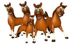Illustrazione resa dei cavalli Fotografia Stock Libera da Diritti