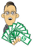 Illustrazione ricca dell'uomo d'affari illustrazione di stock