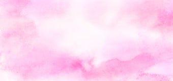 Illustrazione rosa-chiaro di pendenza dell'acquerello delle tonalità di colore di effetto dell'inchiostro su fondo di carta strut fotografia stock
