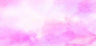 Illustrazione rosa-chiaro di pendenza dell'acquerello delle tonalit? di colore di effetto dell'inchiostro su fondo di carta strut fotografie stock libere da diritti