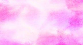 Illustrazione rosa-chiaro di pendenza dell'acquerello delle tonalit? di colore di effetto dell'inchiostro su fondo di carta strut immagini stock