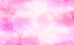 Illustrazione rosa-chiaro di pendenza dell'acquerello delle tonalit? di colore di effetto dell'inchiostro su fondo di carta strut fotografia stock libera da diritti