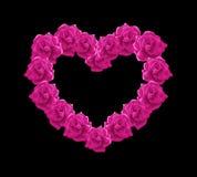 Illustrazione rosa del cuore delle rose Fotografia Stock