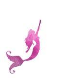 Illustrazione rosa della sirena Fotografia Stock