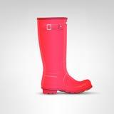 Illustrazione rosa dello stivale di gomma Fotografia Stock Libera da Diritti