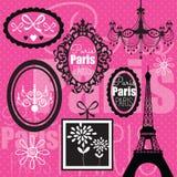 Illustrazione rosa di progettazione di Parigi Immagine Stock