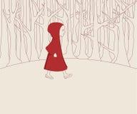 Illustrazione rossa del cappuccio Fotografia Stock Libera da Diritti
